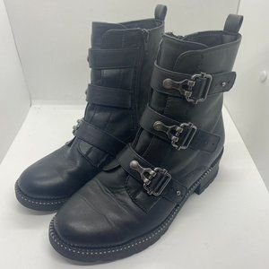 SO womens buckla mid boots-black-size 7.5M